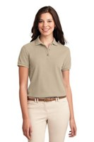 Port Authority Womens Silk Touch Polo Shirt Stone