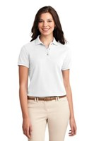Port Authority Womens Silk Touch Polo Shirt White