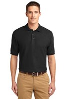 Port Authority Mens Silk Touch Polo Shirt Black