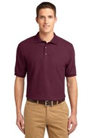 Port Authority Mens Silk Touch Polo Shirt Burgundy