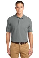 Port Authority Mens Silk Touch Polo Shirt Cool Grey