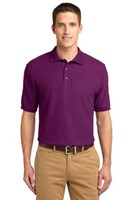 Port Authority Mens Silk Touch Polo Shirt Deep Berry