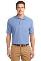 Port Authority Mens Silk Touch Polo Shirt Light Blue