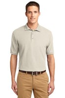 Port Authority Mens Silk Touch Polo Shirt Light Stone