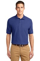 Port Authority Mens Silk Touch Polo Shirt Mediterranean Blue