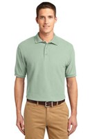 Port Authority Mens Silk Touch Polo Shirt Mint Green