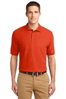 Port Authority Mens Silk Touch Polo Shirt Orange