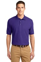 Port Authority Mens Silk Touch Polo Shirt Purple