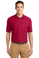 Port Authority Mens Silk Touch Polo Shirt Red