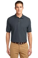 Port Authority Mens Silk Touch Polo Shirt Steel Grey