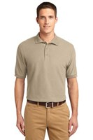 Port Authority Mens Silk Touch Polo Shirt Stone