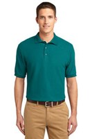 Port Authority Mens Silk Touch Polo Shirt Teal Green