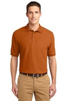 Port Authority Mens Silk Touch Polo Shirt Texas Orange