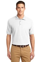 Port Authority Mens Silk Touch Polo Shirt White