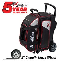 KR Lane Rover 2 Ball Roller (LR2) Black/Silver/Red Bowling Bags
