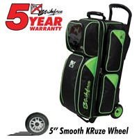 KR Lane Rover 3 Ball Roller (LR3) Black/Lime Bowling Bags