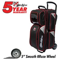 KR Lane Rover 3 Ball Roller (LR3) Black/Silver/Red Bowling Bags