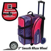 Brunswick Flash C Double Roller Purple/Pink Bowling Bags