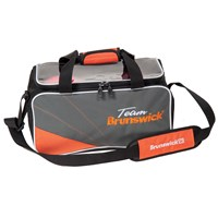 Brunswick Team Brunswick Double Tote Slate/Orange Bowling Bags