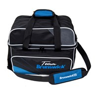 Brunswick Team Brunswick Deluxe Double Tote Black/Cobalt Bowling Bags