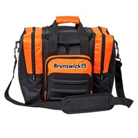 Brunswick Flash Single Tote Black/Orange Bowling Bags