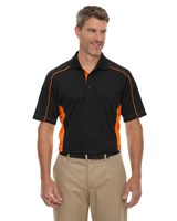 Ash City Mens Fuse Polo Black/Orange