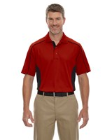 Ash City Mens Fuse Polo Classic Red/Black