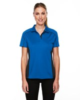 Ash City Womens Fuse Polo True Royal/Black