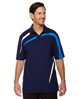 Ash City Mens Impact Performance Polo Night/Light Nautical Blue/White