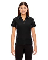 Ash City Womens Sonic Performance Polo Black Silk