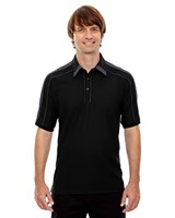 Ash City Mens Sonic Performance Polo Black Silk