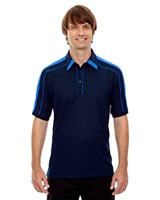 Ash City Mens Sonic Performance Polo Night/Light Nautical Blue