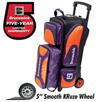 Brunswick Flash X Triple Roller Purple/Orange Bowling Bags
