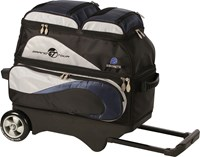 Ebonite Grand Tour Edition 2 Ball Roller  Navy/Silver Bowling Bags