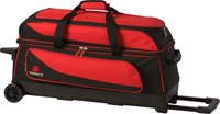 Ebonite Transport Triple Roller Red/Black Bowling Bags