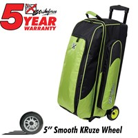 KR Cruiser Smooth Triple Roller Lime Bowling Bags