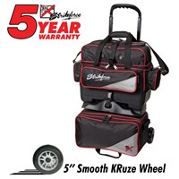 KR Lane Rover 4 Ball Roller (LR4) Black/Silver/Red Bowling Bags