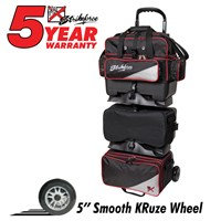 KR Lane Rover 6 Ball Roller (LR6) Black/Red/Silver Bowling Bags