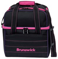 Brunswick Kooler C Single Tote Black/Pink/Purple Bowling Bags