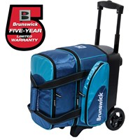 Brunswick Flash C Single Roller Navy/Aqua Bowling Bags