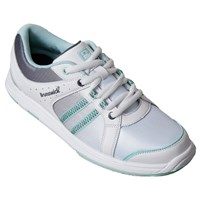 Brunswick Womens Sienna White/Grey/Eggshell Bowling Shoes