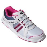 Brunswick Womens Sienna White/Black/Hot Pink Bowling Shoes
