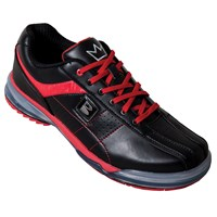 Brunswick Mens TPU X Black/Red Right Hand Wide Bowling Shoes