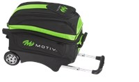 Motiv Deluxe Double Roller Black/Green Bowling Bags