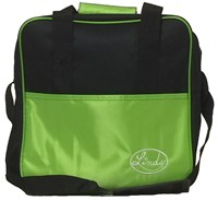 Linds Basic Single Tote Black/Lime Bowling Bags