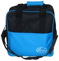 Linds Basic Single Tote Blk/Blue Bowling Bags