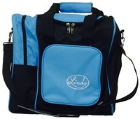 Linds Deluxe Single Tote Black/Blue Bowling Bags