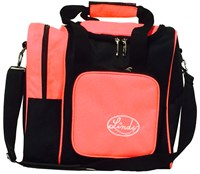 Linds Deluxe Single Tote Black/Coral Bowling Bags