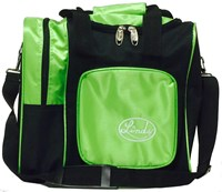 Linds Deluxe Single Tote Black/Lime Bowling Bags