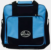 Linds Laser Basic Single Tote Black/Blue Bowling Bags